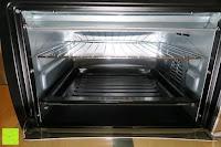 Gitter oben: Andrew James – 23 Liter Mini Ofen und Grill mit 2 Kochplatten in Schwarz – 2900 Watt – 2 Jahre Garantie