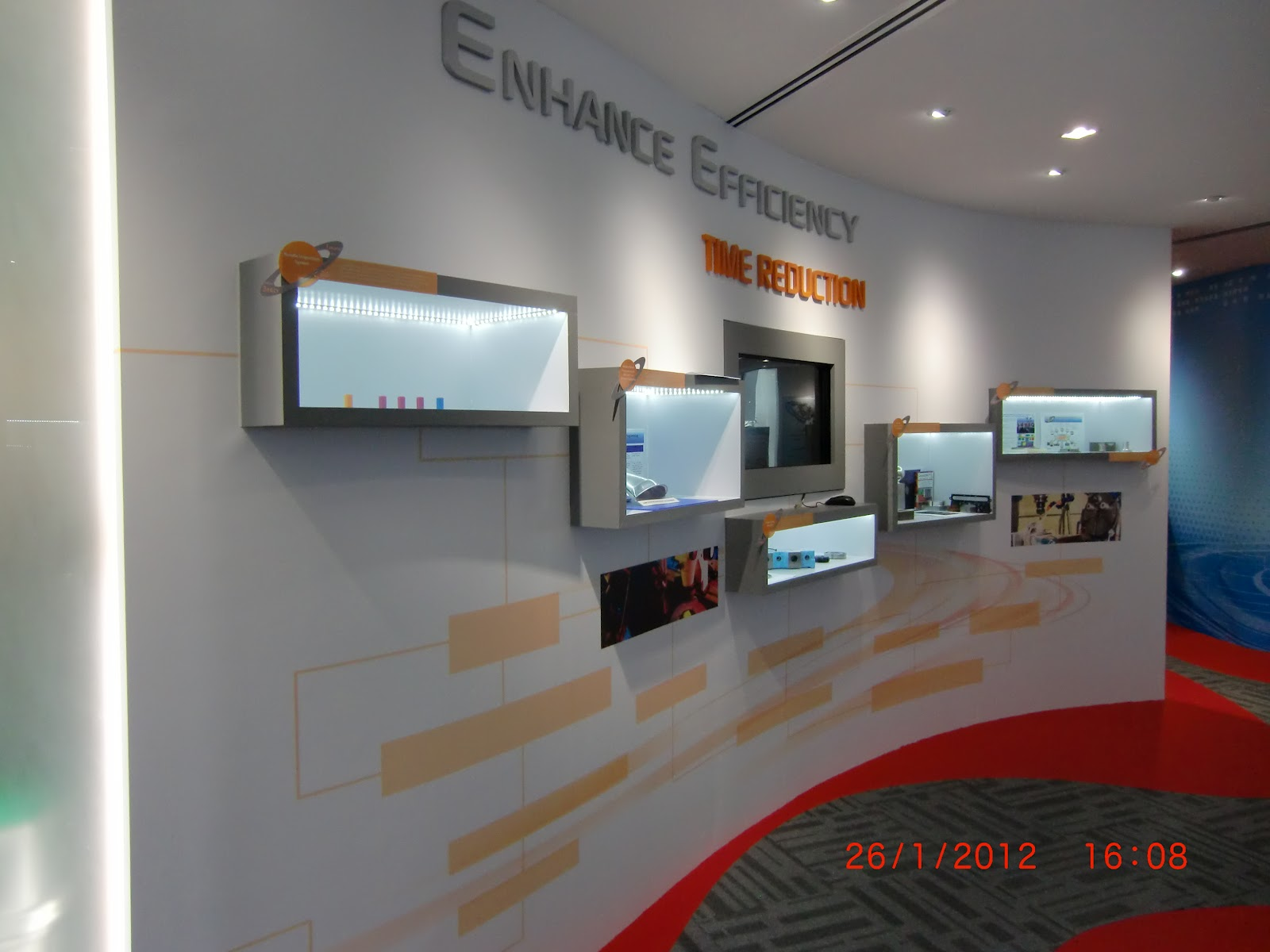 Company Signages Graphic Walls Display Showcase Mural