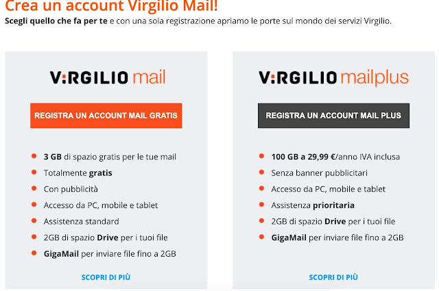 Virgilio.it Login & Registration