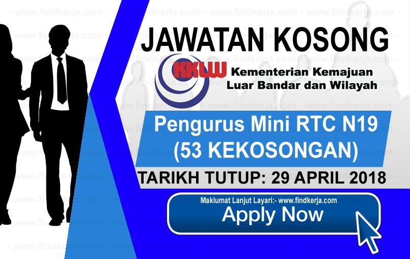 Jawatan Kerja Kosong KKLW - Kementerian Kemajuan Luar Bandar dan Wilayah logo www.findkerja.com april 2018