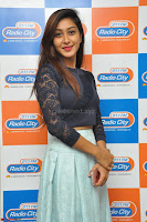 Shravya in skirt and tight top at Vana Villu Movie First Song launch at radio city 91.1 FM ~  Exclusive 33.JPG