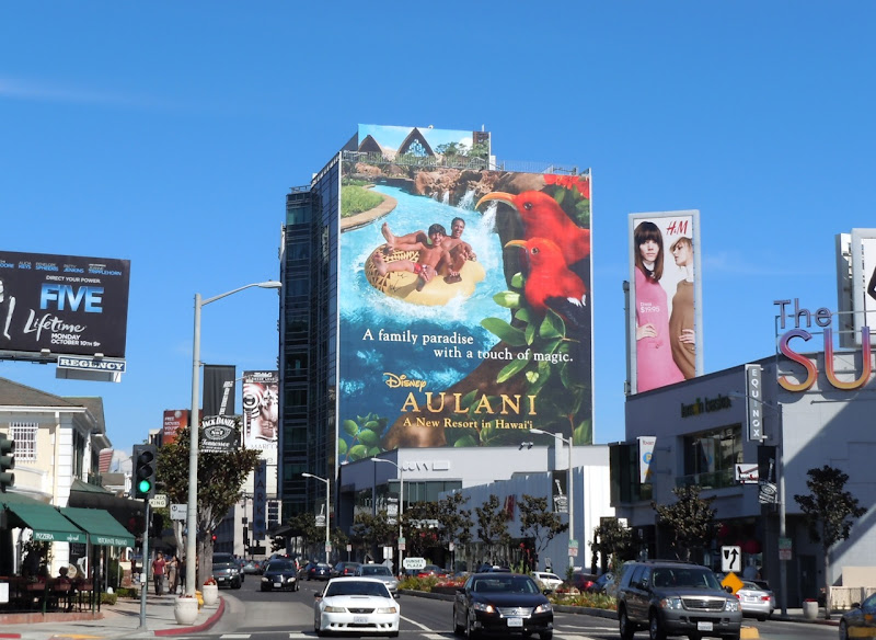 Giant Disney Aulani resort billboard