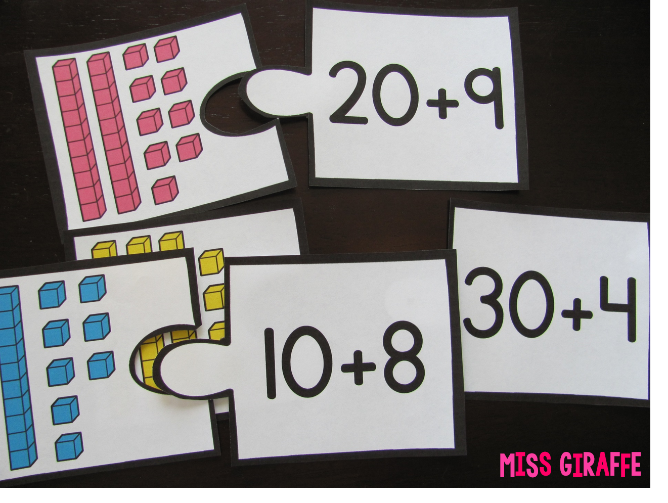 Place value expanded form activities like these puzzles and a lot of fun place value ideas