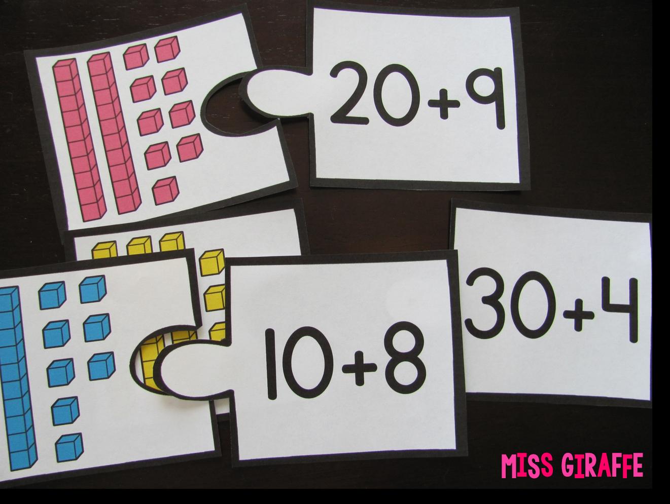 Miss Giraffe's Class: Place Value in First Grade [ 995 x 1321 Pixel ]