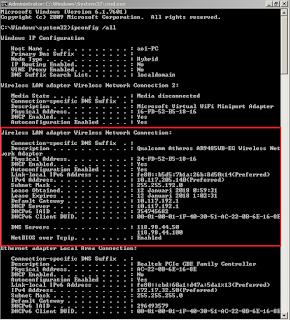pengaturan static route add di windows