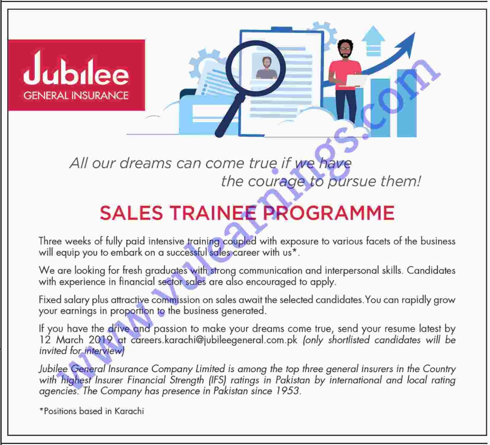 Job in jubilee General insurance