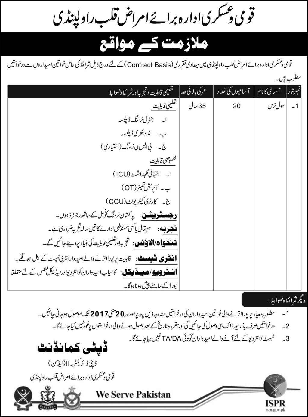 cardiology hospital rawalpindi jobs rawal road