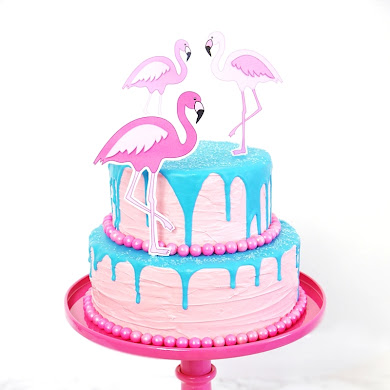 Recipe | How To Make a Flamingo Drip Cake