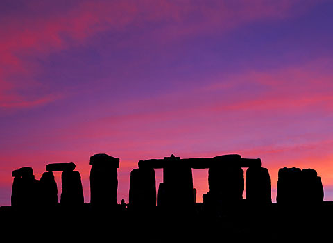 Stonehenge Images - Beautiful Sunset at Stonehenge