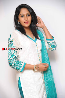 Kannada Actress Nikhila Stills in White Embroidery Salwar Kameez at Srinivasa Kalyana Movie Press Meet  0007.jpg