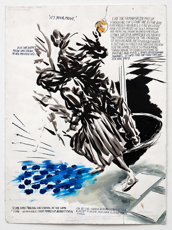 "drawing Raymond Pettibon Untitled (""But she didn't...""), 2003"