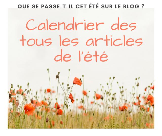 Articles de l'été calendrier