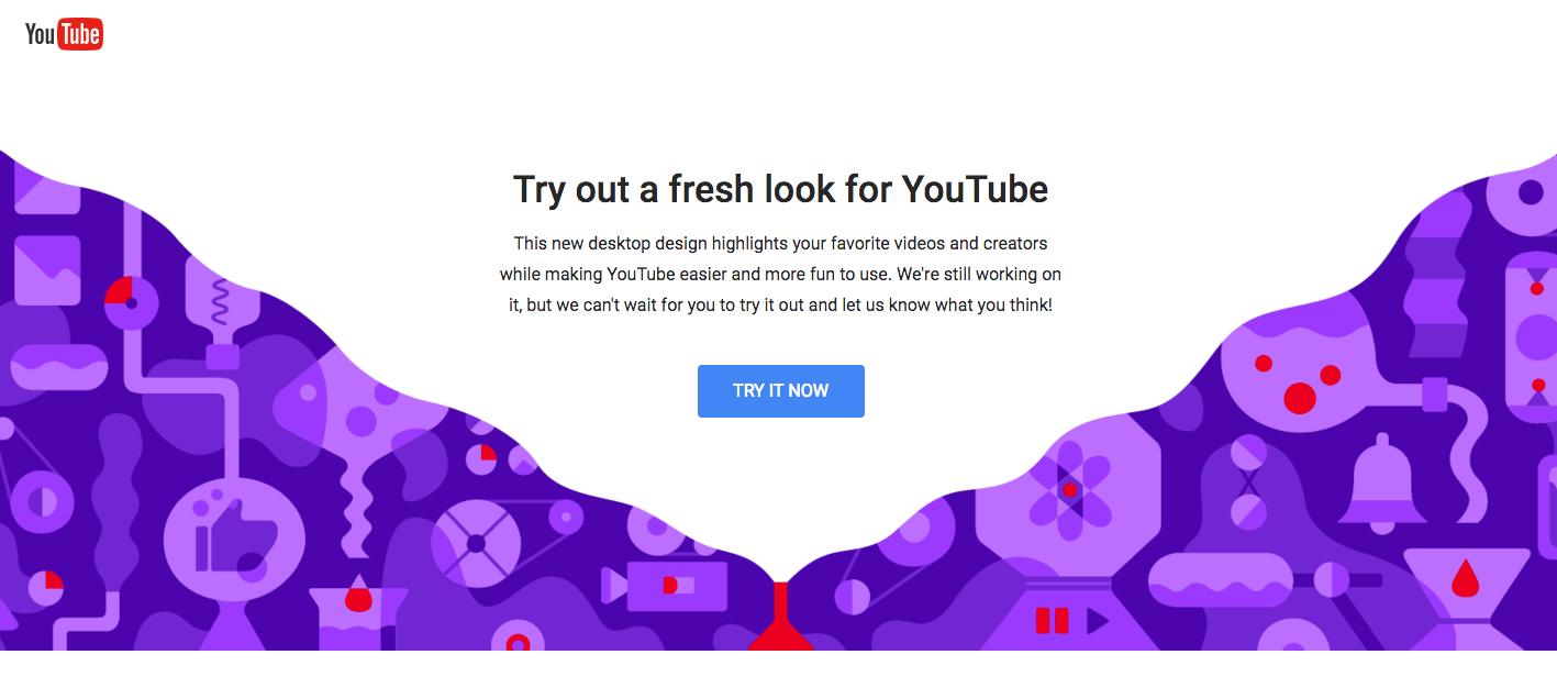 كيفية تفعيل التصميم الجديد لليوتيوب Material design رسمياً