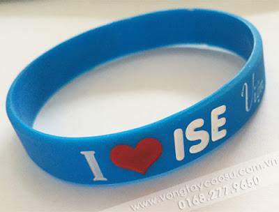 Vòng tay cao su I LOVE ISE