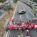Protesto ocorreu na BR-101 nesta tarde