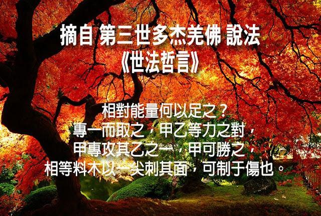 第三世多杰羌佛說《世法哲言》(二十二)