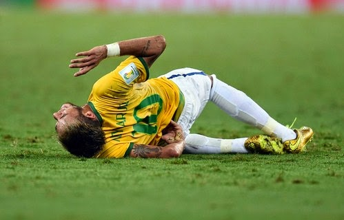 Neymar out of Fifa World Cup 2014 with vertebra injury - watch Video