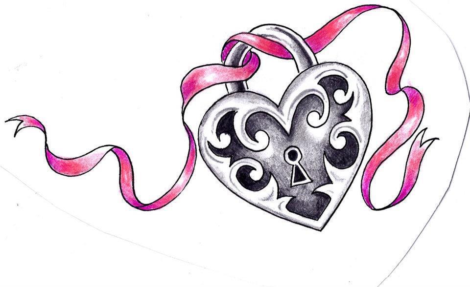 Jade's Portfolio.: Alex COLLIER's Tattoo. (Heart Locket)