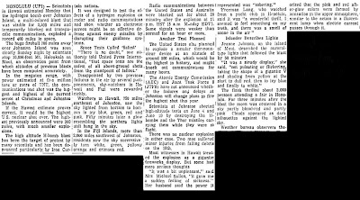 Flash From Space A Blast Is Visible for 3500 Miles - Wilmington Morning Star (Body) 7-10-1962