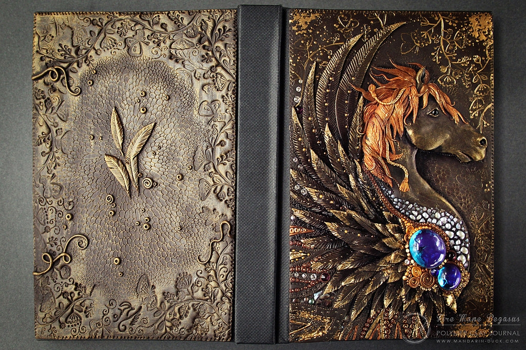 13-Feathered-Horse-Aniko-Kolesnikova-Polymer-Clay-Book-Diary-and-Electronics-Cover-www-designstack-co