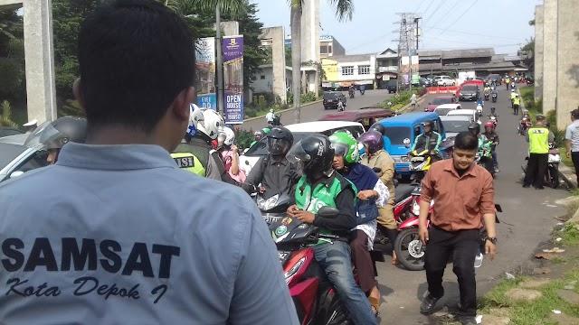 Kurangi KTMDU, Samsat Depok Gelar Operasi Gabungan TA 2019