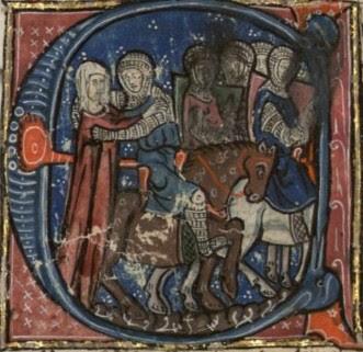 Ida van Verdun neemt afscheid van haar zonen die op kruistocht gaan