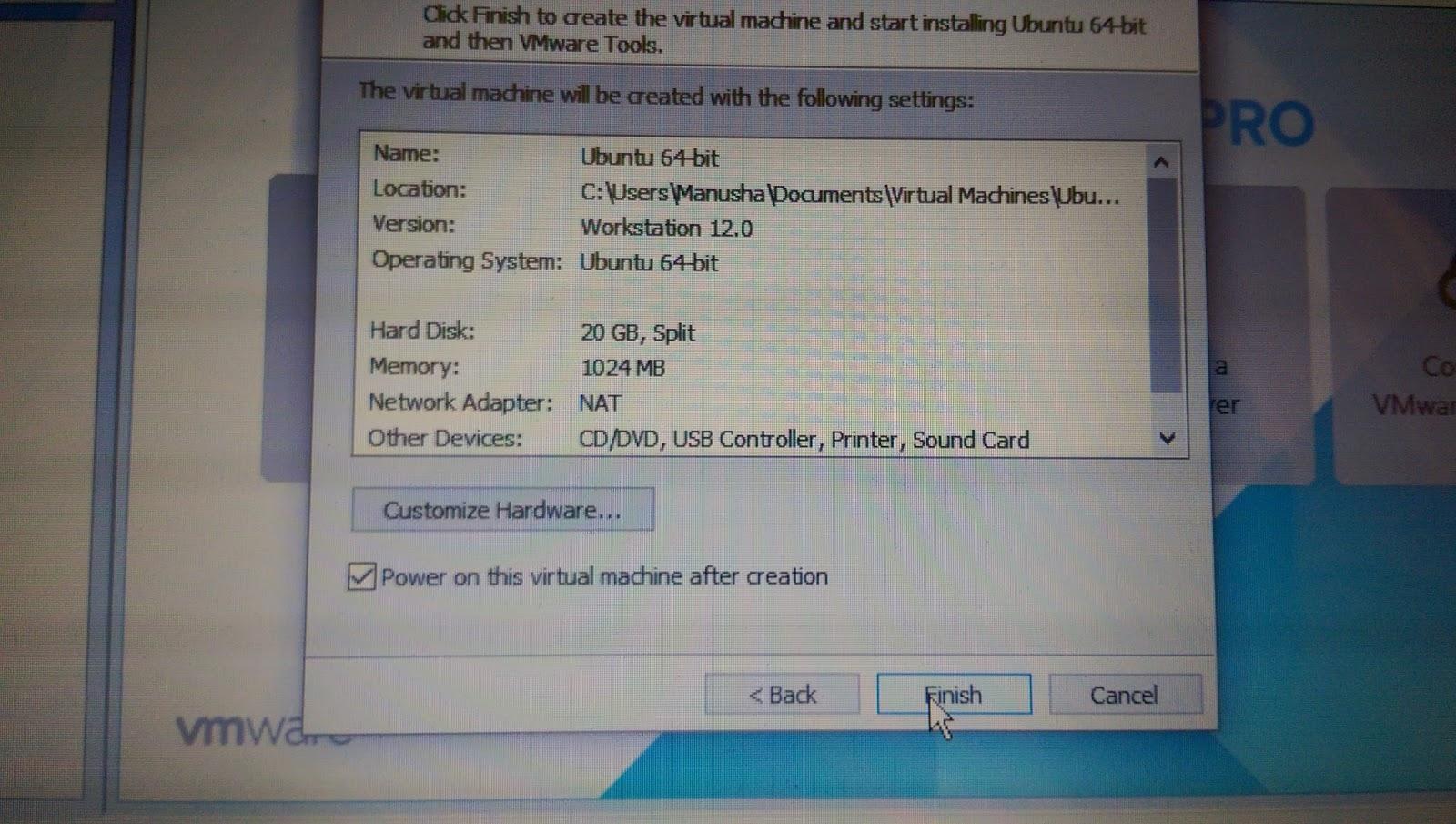 VMWare වලින් උබුන්ටු දාමු | How to install Ubuntu in
