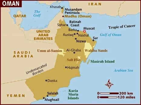 Peta Negara Oman