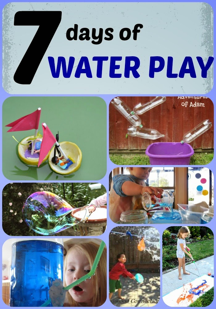 learn with play at home 7 days of water play