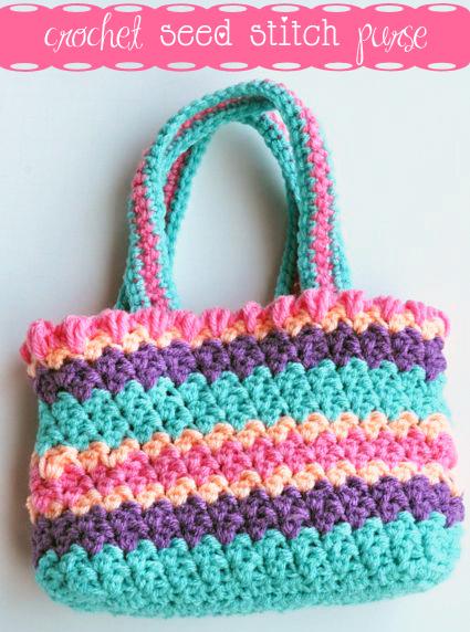 Crochet Seed Stitch Purse Free Crochet Pattern Crochet Crafty