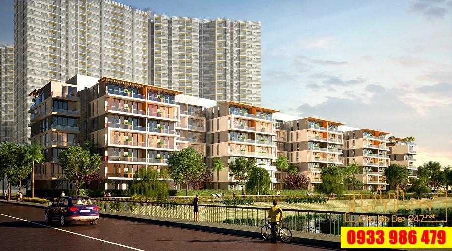 Phối cảnh view sông của dự án Sky Villas Jamona