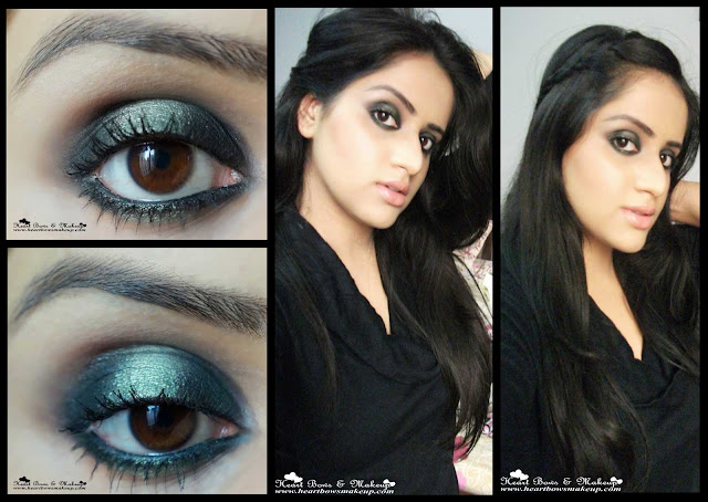 Green Smokey Eye Makeup Tutorial New Year's Eve Party Makeup, intense smokey eyes, indian beauty, indian makeup face