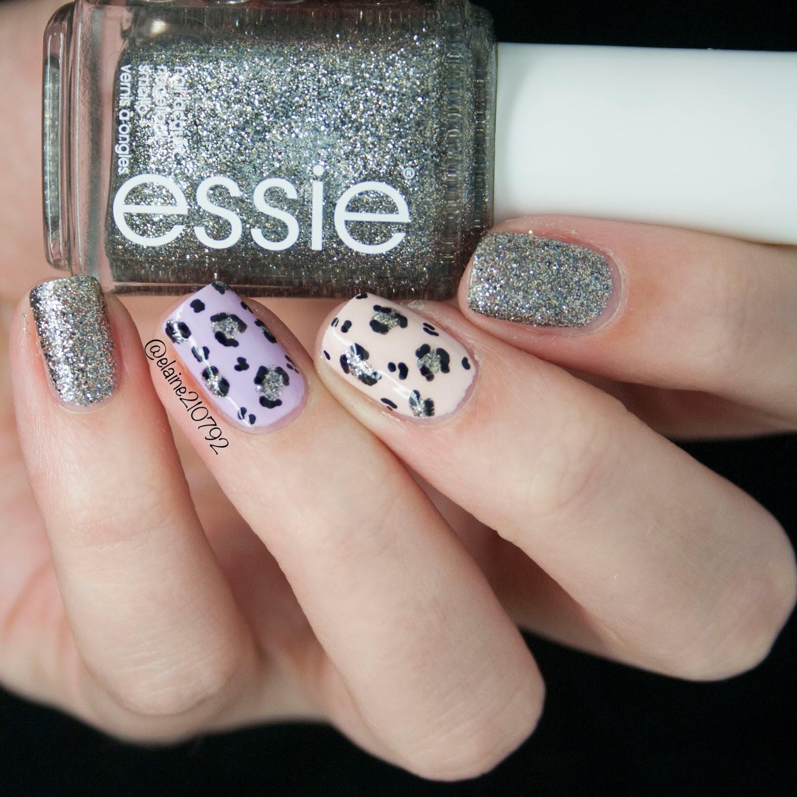 Elaine Nails: CM Handmade UK Nail Art Leopard Print