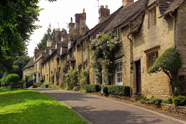 Cottages in Blockley, Cotswolds