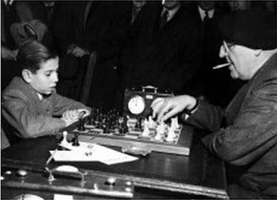 Partida de ajedrez Dr. Bernstein-Pomar en el Torneo de Londres 1946