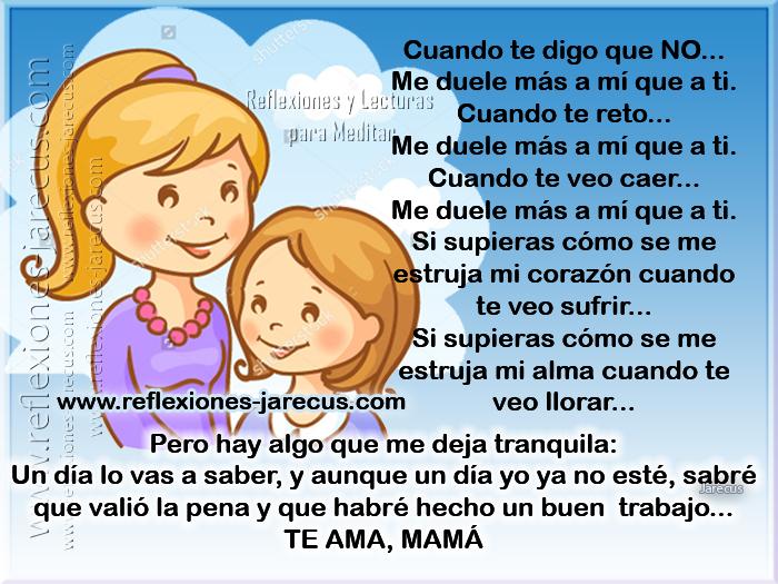 Reflexiones de la madre, Postales para mamá, Reflexiones de Familia,