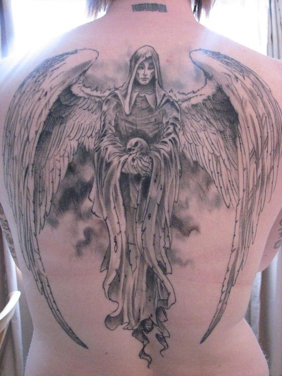 Tattoo art: Death tattoos: angels of death (1)