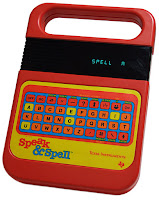 Fotografía del juguete electrónico Speak and Spell