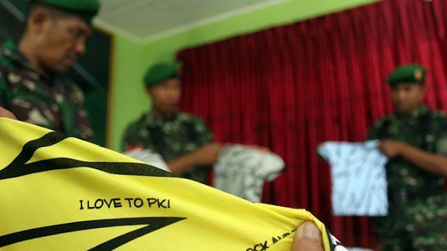 TNI Amankan Baju Kaus Anak-anak Bertuliskan 'I Love to PKI' Dijual di Pusat Perbelanjaan Terkemuka