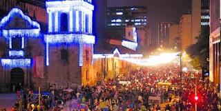FOTO CICLOVIA NOCTURNA en Bogotá