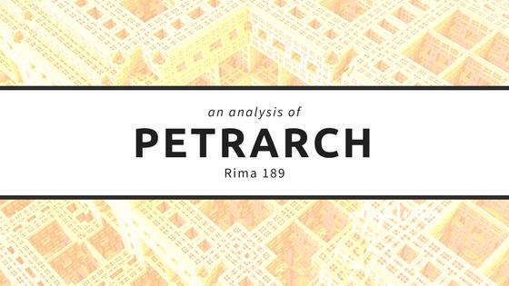 analysis of petrarch's rima 189