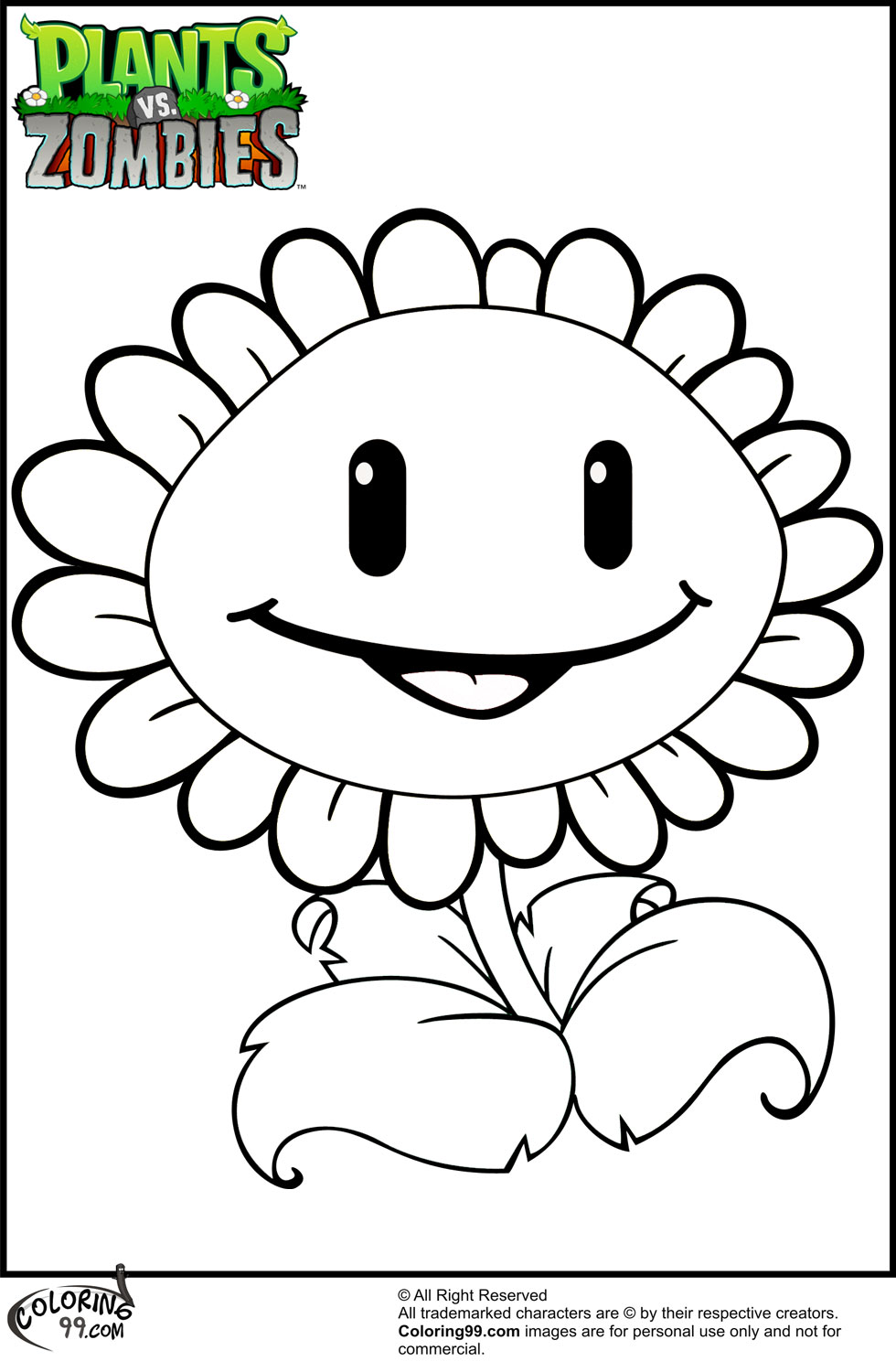 Plants VS Zombies Coloring Pages | Minister Coloring