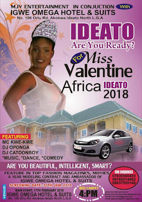 Ideato 2018 For Miss Valentine Africa