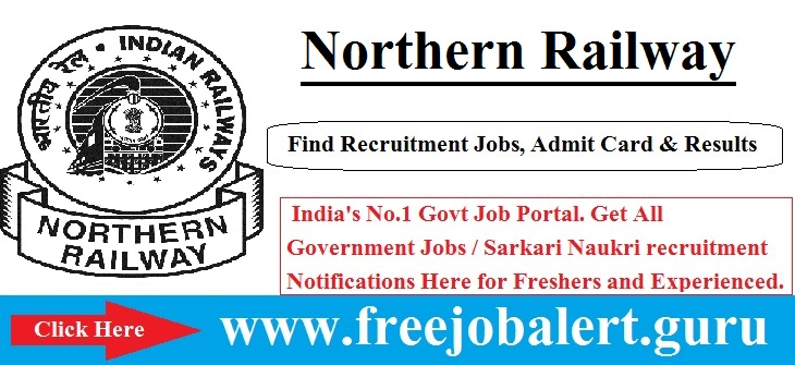 Northern Railway Recruitment 2016-17 | Sports Person Post Candidate age limit is 18 to 32 years