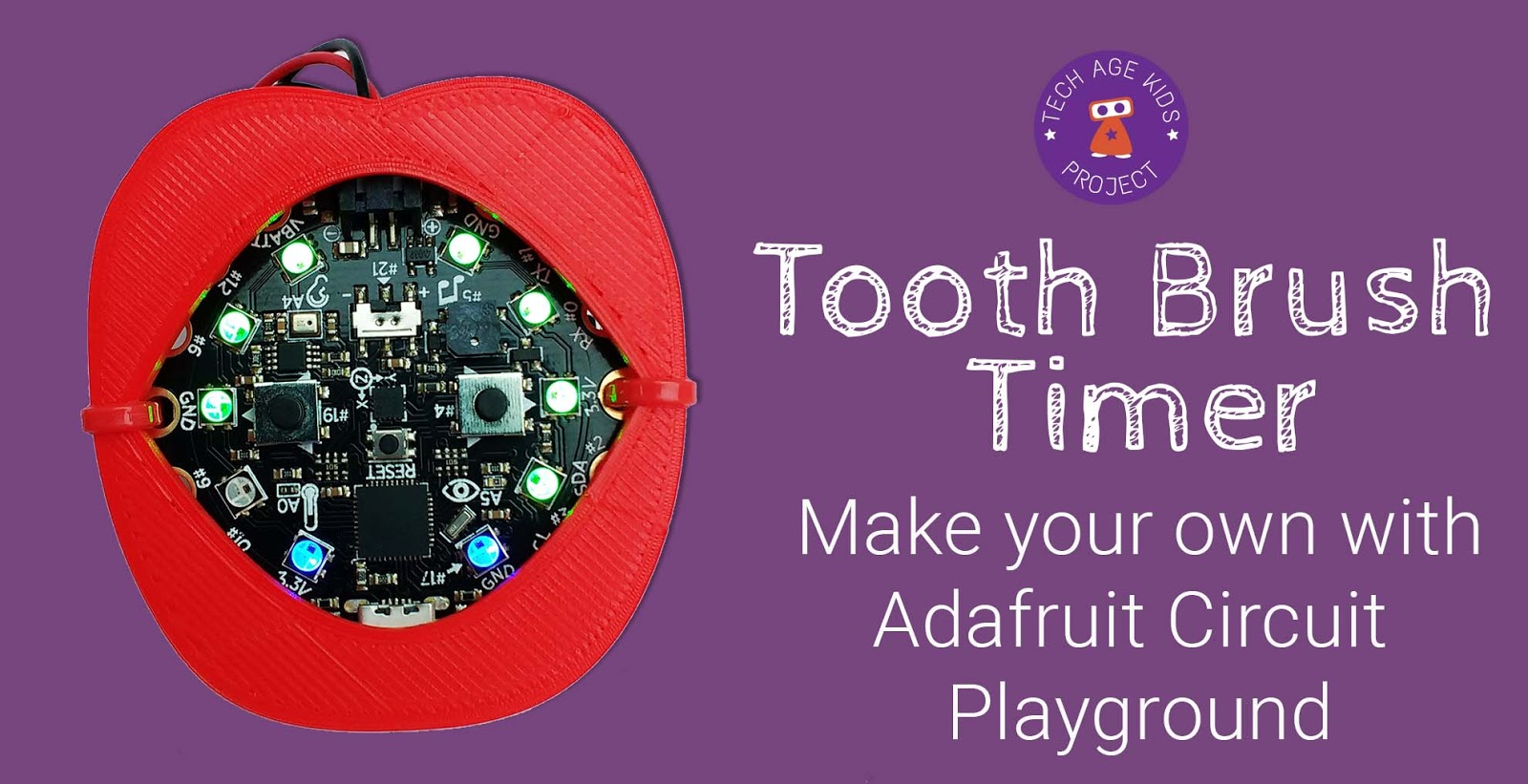 Make Your Own Toothbrush Timer With Circuit Playground Photo