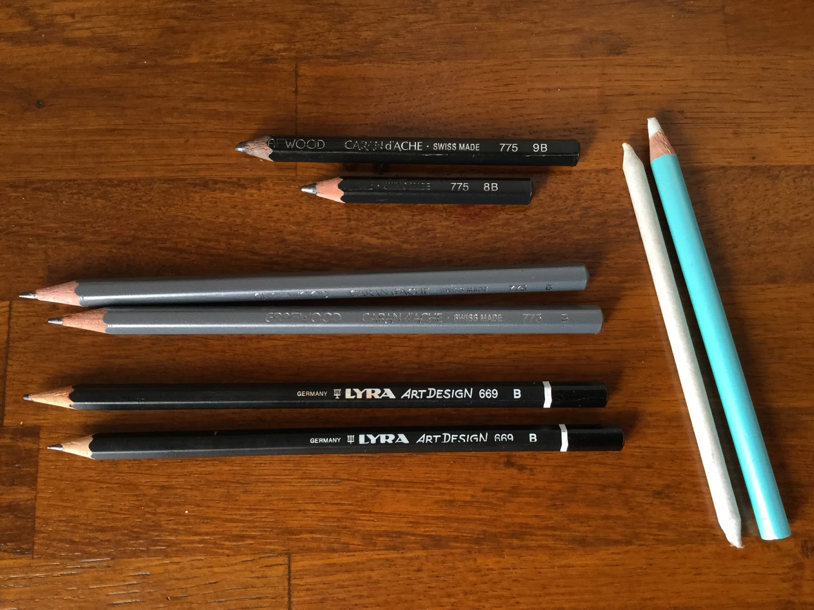 Graphite erasers and stumps
