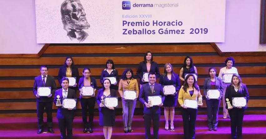 Derrama Magisterial entregó «XXVIII Premio Horacio Zeballos 2019» www.derrama.org.pe