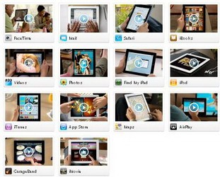 iPad 2 Guided Tour Videos published by Apple