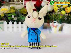 Souvenir Ulang Tahun Gantungan Kunci Boneka Kelinci Korea