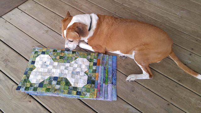 Kennel quilts using Island Batik fabrics